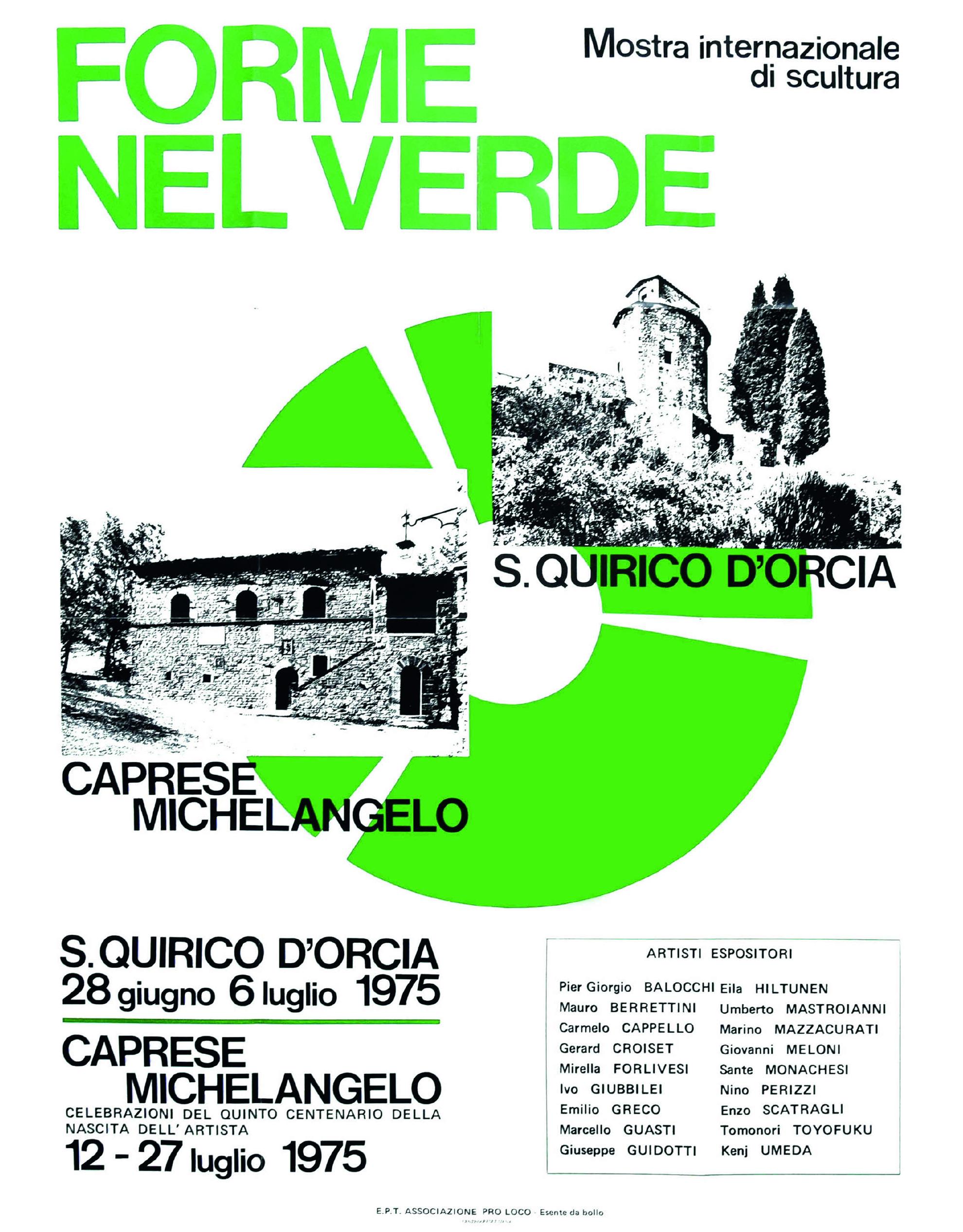Catalogo Forme nel Verde 1975