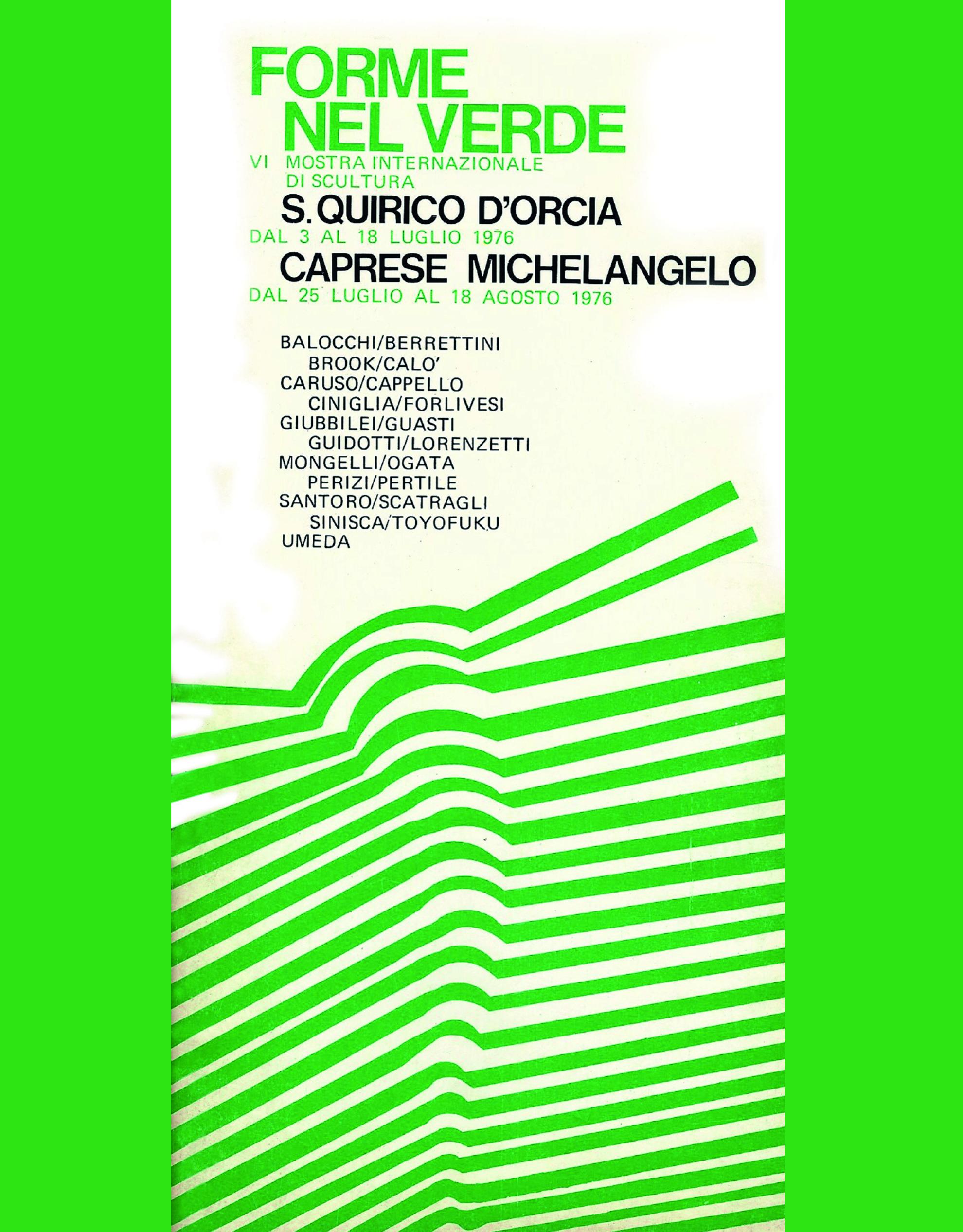 Catalogo Forme nel Verde 1976