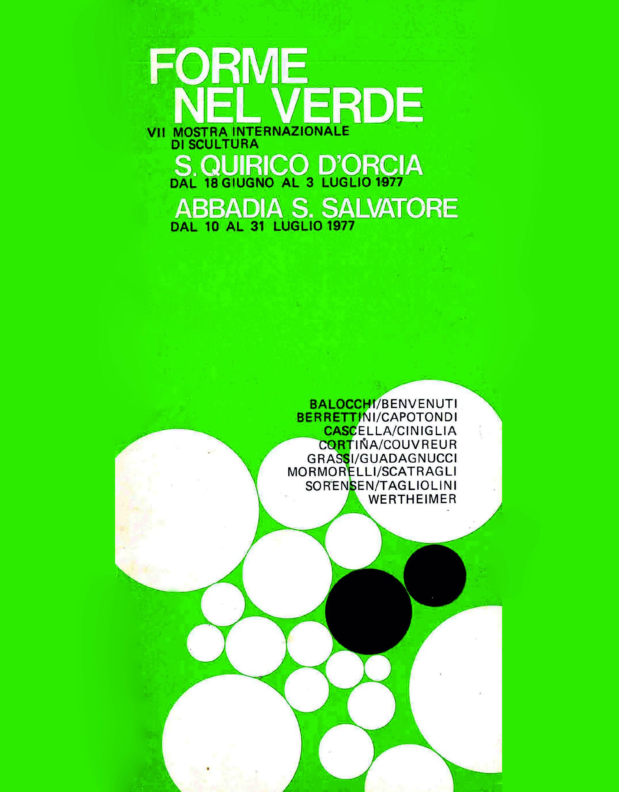 Catalogo Forme nel Verde 1977