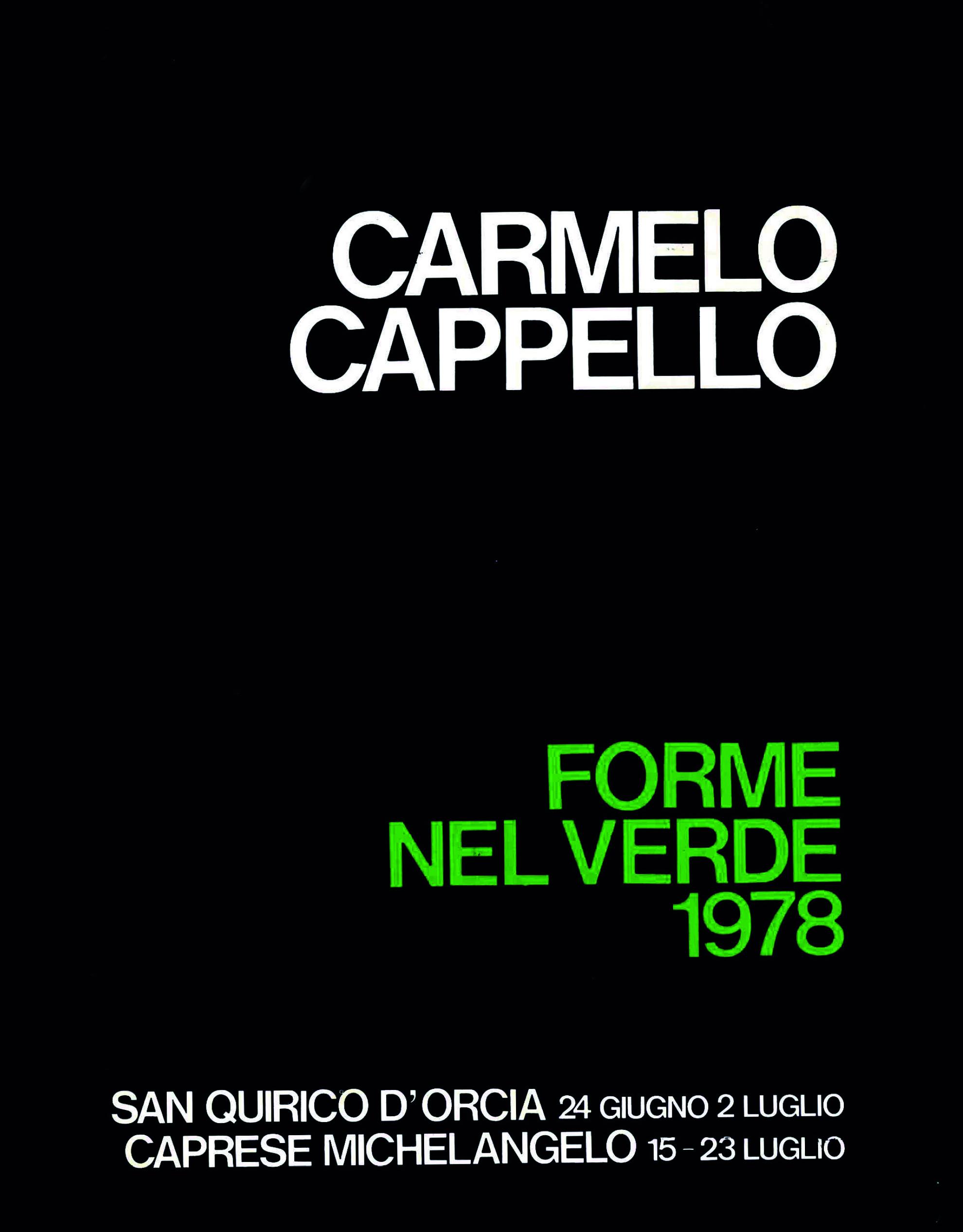 Catalogo Forme nel Verde 1978