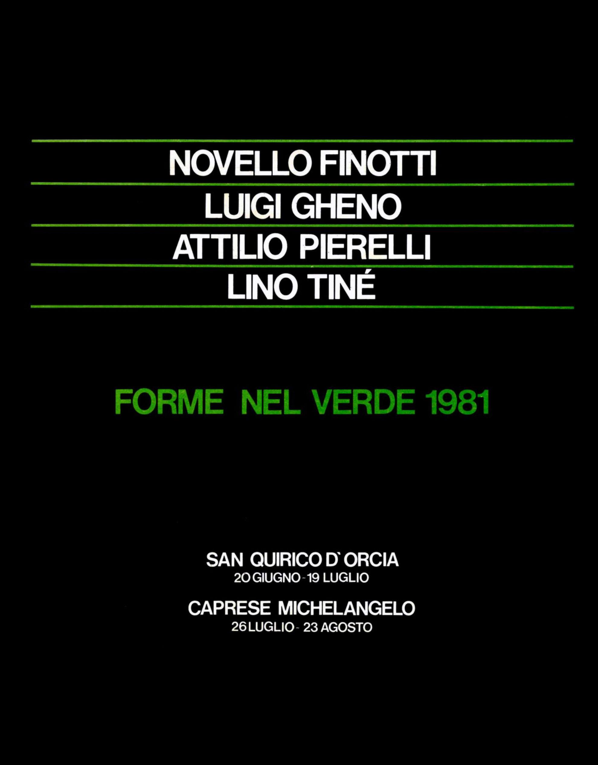 Catalogo Forme nel Verde, 1981